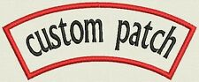 "Custom Embroidered Rocker, Name Tag, Biker Patch, badge 5"" x 3"""