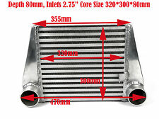"Universal Alloy Intercooler 320mm x 300mm x 80mm Core 2.75"" Inlet/Outlet"