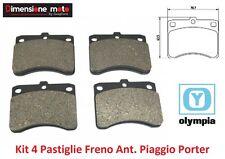 Kit 4 Pastiglie Freno Anteriori Olympia per Piaggio Ape Quargo 500 dal 2005