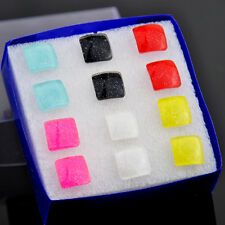 fashion 6 Pairs Mixed color Square Earrings ED286