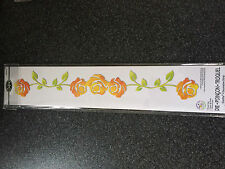 SIZZIX SIZZLIT DECORATIVE STRIP DIE CARD EDGE DECORATIVE ROSE VINE FLOWER SALE