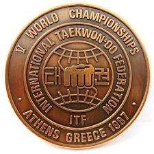 V WORLD TAEKWON-DO CHAMPIONSHIPS ATHENS,GREECE 1987 PARTICIPANT BRONZE MEDAL
