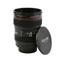 ABS Travel Coffee Mug Cup Water Coffee Tea Camera Lens Cup With Lid Gift QK