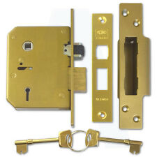 "Union C-Series 3K75 5 Lever Mortice Door Sashlock 67mm/2.5"" Polished Brass"