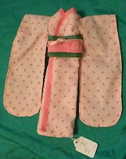 Pink Rosebud Cotton Kimono, Green & Pink Obi for Barbie HC87