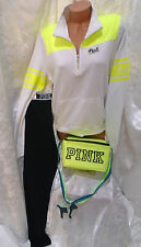 victoria secrets pink SWEATSHIRT & LEGGINGS SET & BAG NWT! 4PC SET LARGE