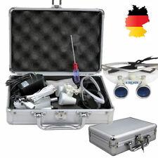 3.5X Binokular lupen 420mm Surgical loupes+Dental Lupenbrille Headlight+Case DE