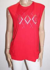 Ambitionfly Brand Red Gold Print Tank Top Size XL/XXL BNWT #SR20