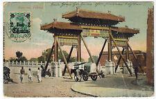 Card with Peking Gateway View, via German Post in Peking to Germany, 1912