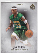 LeBRON JAMES Fighting Irish SP AUTHENTIC Basketball Card HIGH SCHOOL JERSEY LE