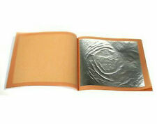 24ct Edible Silver Leaf 10 sheets - For cakes etc