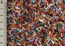 50g BUGLE BEADS - 2mm to 6mm MIXED
