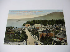 Lot33v c1915 VANCOUVER WEST END - English Bay & CPR Steamer POSTCARD