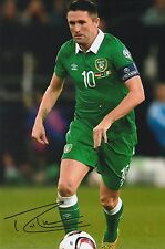 Football Robbie Keane Ireland Original Hand Signed Photo 12x8 With COA