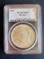 1921 P MORGAN DOLLAR VAM 24A3 PCGS MS63 DIE BREAK REVERSEFINEST KNOWN