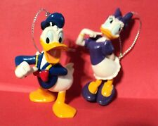 DISNEY DONALD DUCK & DAISY DUCK CHRISTMAS ORNAMENTS, EXCLUSIVE 3 IN NEW LOOSE