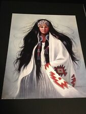 """Indian Maiden By Garcia Large 16 X 20"""" Picture Print New In Lithograph"""