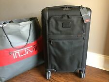 TUMI Alpha 2 International EXPANDABLE 4 WHEEL CARRY ON LUGGAGE 22060 Black $625