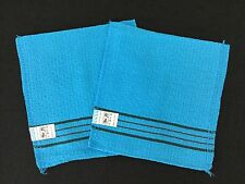 2 Korean Beauty Blue Exfoliating Mitt Italy Cloths 40/50% Scrub Power