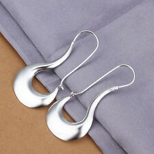 Free Shipping Genuine Sterling Solid Silver Fashion Dangle Earrings E338