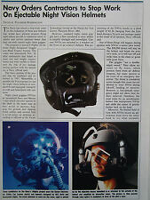 12/1990 ARTICLE + 1 PAGE US NAVY NIGHT VISION HELMET CASQUE NVG KAISER GEC