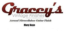 -Mary Kaye- Gracey's Vintage Finishes Nitrocellulose Guitar Lacquer Aerosol.
