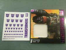 2016 Ocean Hasbro Transformers Decepticon Clear background Logo decals