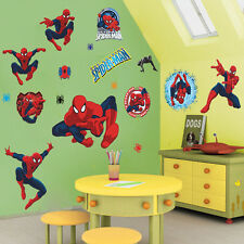 3D Spider-Man Wall Stickers Removable Art Decals Mural Wallpaper Home Decor DIY