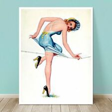 """ART DECO Pin-up Cover Girl CANVAS PRINT Enoch Bolles  8x10"""" Barbed Wire"""
