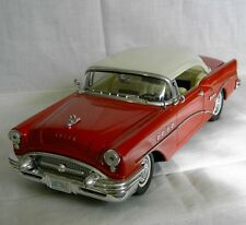 MIRA 1955 BUICK CENTURY COUPE  DIECAST CAR  Red  and White  # 6284  1:18 SPAIN