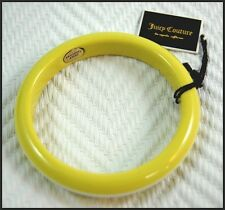 Genuine Juicy Couture Yellow and White Striped Resin Thermoset Bangle Bracelet
