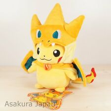 Pokemon Center Poncho Pikachu Series Mega Charizard Y Ver. Plush doll Japan