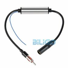 12V Deluxe Inline Car Antenna Radio AM & FM Signal Amp Amplifier Booster【UK】