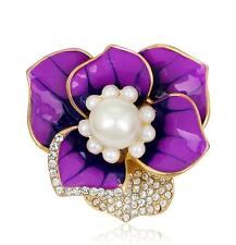 2016 New Women Lady Flower Bridal Brooch Rhinestone Crystal Diamante Broach Pin