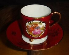Goudeville Limoges Made in France miniature cup and saucer