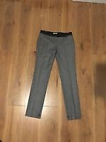 Authentic Mulberry Evening Trousers Wool Cashmere Dark Grey Marl Size 8 RRP £490