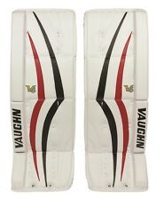 "New Vaughn 1100i V6 Int ice hockey goal leg pads 32""+2 Black/Red Velocity goalie"
