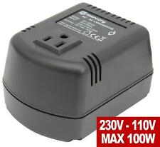 Step Down Voltage Converter 220v to 110v US 100VA 100 Watts UK