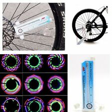Bicycle Bike Wheel Spoke Light  32 LED Colourful Tyre Tire Valve Flash Lamp UK