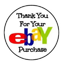 """48 Thank You For Your Ebay Purchase!!  ENVELOPE SEALS LABELS STICKERS 1.2"""" ROUND"""
