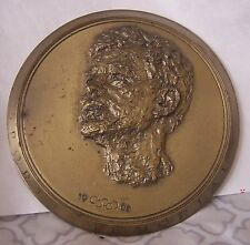 "JFK SPORTS MEMORIAL MEDAL 1968 HUGE @ 5 1/2"" AMATEUR ATHLETIC UNION OF THE U.S.A"