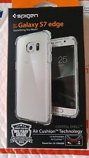 Spigen Crystal Shell Extra Shock-Absorb Clear Cover Case for Galaxy S7 Edge new