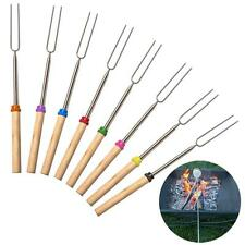 8 color Telescoping Marshmallow Hot Dog BBQ Roasting Sticks Smores Skewers Fork