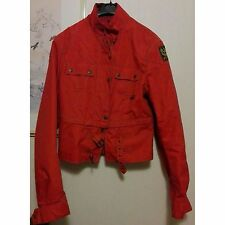 giubbino giacca donna rosso BELSTAFF originale tg. 44 genuine woman jacket red L