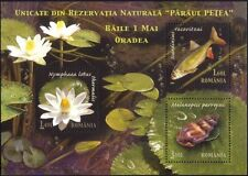 Romania 2008 Fish/Snail/Flower/Nature/Wildlife/Conservation 3v m/s (n44719)