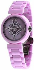 Oniss ON7703-LC Women's Girasol Crystal Accented MOP Dial Pink Ceramic Watch