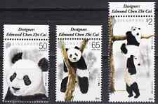 SINGAPORE - 2012 - Pandas. Complete Set of 3v. Mint NH