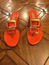 michael kors sandals Ladies Size 8.5 Paten Leather Orange Color