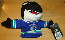 Vancouver Canucks Bleacher Creatures Plush Doll Toy Fin Mascot Puppet NHL