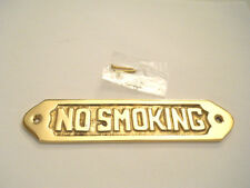 Collectible Decorative Solid Brass No Smoking Sign Or Plaque Wall Hanging New